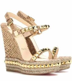 Wedges, Spring Summer 2016, Wedge Sandals, Shoes Sandals, Delivery,  Metallic Paint, Designers, Accessories, Jute
