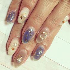 Manicure Nail Designs, Almond Nails Designs, Nail Manicure, Nail Art Designs Videos, Cool Nail Designs, Get Nails, Fancy Nails, Japan Nail Art, Finger