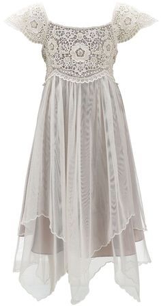 Cordelia Pearl Beaded Lace Dress