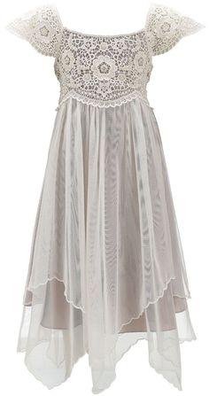 Cordelia Pearl Beaded Lace Dress