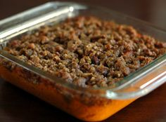 This week's #Fall #recipe: sweet potato casserole with praline topping! #autumn