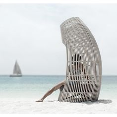 Loungesessel Lolah (brown/whitewash) von Kenneth Cobonpue