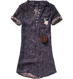MAISON SCOTCH Double Layer Silk Tunic