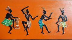 Mural Sand Painting, Coffee Painting, Mural Painting, Pottery Painting, Clay Wall Art, Mural Wall Art, Glue Art, African Art Paintings, Buddha Art