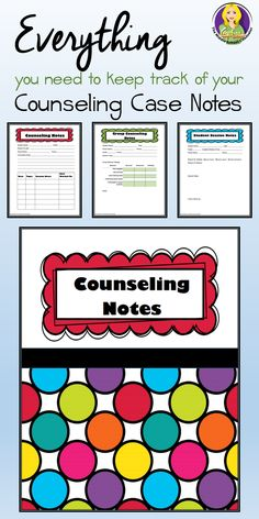 These counseling note forms will help you keep the documentation you need for both individual and group counseling. Perfect for school counselors, psychologists and social workers!