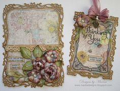 Designs by Marisa: Pocket Card & Tag Tutorial on Spellbinders Blog