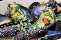 Terapia do Tacho: Mexilhões com molho roquefort (Mussels with roquefort sauce)