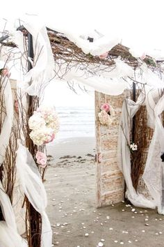 Any of the ideas in this page can also be perfect as Beach Wedding Entrance.