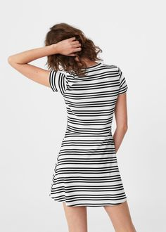 Vestido algodón rayas | MANGO