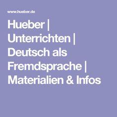 Hueber | Unterrichten | Deutsch als Fremdsprache | Materialien & Infos