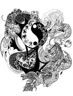 Yin Yang Dragon By Blood Pleasures On DeviantArt