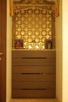 wall mounted pooja mandir designs - Google Search