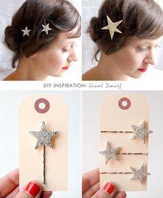 DIY bobby pins for flower girls