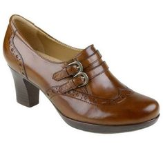 Earth Latitude Leather Shooties with Buckle Detail