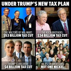 """The 1% keep selling this same """"tax cut"""" plan to the Fool-Aid republiconned and they keep buying it. Knowledge is power. Don't be fools, get the facts. Tax cuts always benefit the 1% far more than the rest of us."""