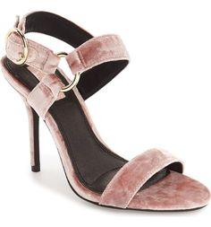 Topshop velvet strappy heels