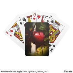 Accidental Crab Apple Tree Playing Cards