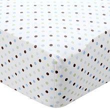 Carter's Crib Sheet - Blue Dot