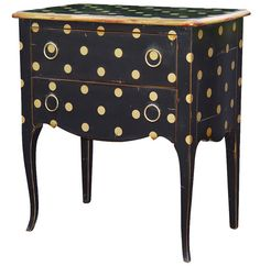 Holy moly, look at how cute that is!!!  polka dots, painted furniture.