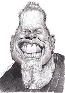 Artist:Jan Op De Beeck   Caricature:James Hetfield