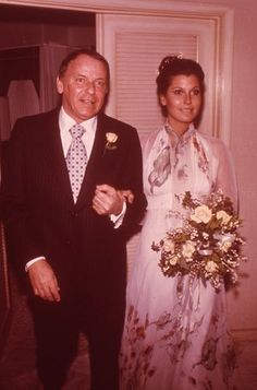 Frank Sinatra Daughter Tina Rare Wedding Photo Original 35Mm Transparency Slide Silverscreen