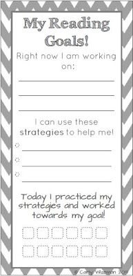 Student Reading Goals Bookmark! Freebie