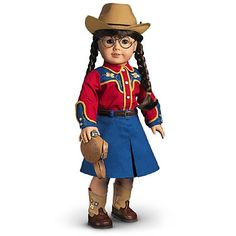 American Girl Molly's Dude Ranch Outfit this is very hard to find. American Girl Outfits, American Girl Doll Molly, American Girls, Girls Dollhouse, Dollhouse Dolls, Ag Dolls, Girl Dolls, Blue Pleated Skirt, Thing 1