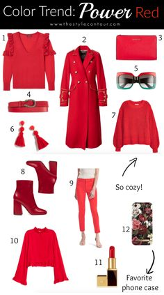 red color trend, red boots, how to wear red boots, red shoes, red coat, red sweater, cozy red sweater, sweater weather, fall 2017 trends, winter 2017 trends, red lipstick, red tassel earrings, gucci belt, red gucci belt, gucci sunglasses, red pants, red bag, the style contour :: SHOP THE POST :: 1 | 2 | 3 | 4 | 5 | 6 | 7 | 8 | 9 | 10 | 11 | 12    //  JavaScript is cu