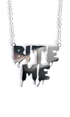 Bite Me Necklace #disturbiaclothing disturbia sterling silver name necklace jewellery grunge alternative