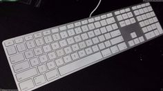 lot of 5 Apple usb Keyboard A1243 silver parts repair missing keys issues as is