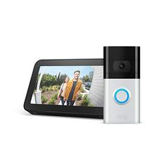 Save 38% on this perfect combo. Easily see who is at your front door.  SALE: $179.99  LIST: $289.98  #AD #techdeal Best Cyber Monday Deals, Ring Video Doorbell, Pots And Pans Sets, Works With Alexa, Black Friday Deals, O Ring, Hd Video, Wifi