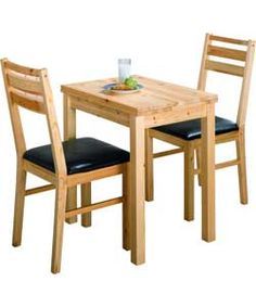 Solid Pine Extendable Dining Table And 2 Chairs