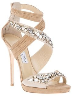 Jimmy Choo Embellished Shoe in Beige (nude) Oooooooh! Cute! I would like the heel a teeny tiny bit smaller but still pretty! :)