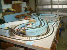 Resultado de imagen de ho train layout built with foam board