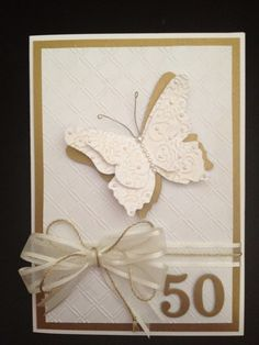 50th Anniversary card with Butterfly