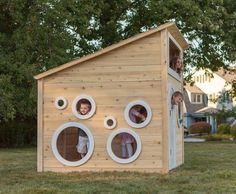 CedarWorks eco-friendly playhouses encourage outdoor play year-round
