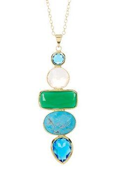 18K Gold Vermeil Sonja Handmade Multi-Stone Pendant Necklace