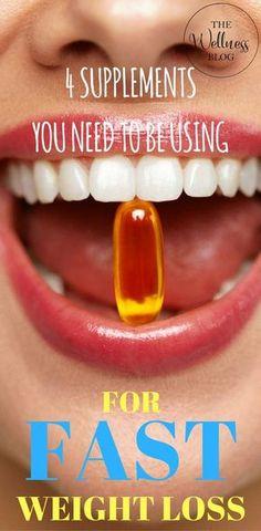 THE WELLNESS BLOG 4 Supplements You Need to be using fir FAST Weight loss Diet/Weightloss
