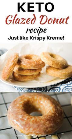 super easy keto glazed donut recipe that tastes just like krispy kreme. super easy keto glazed donut recipe that tastes just like krispy kreme. Low Carb Desserts, Low Carb Recipes, Vegetarian Recipes, Delicious Recipes, Crockpot Recipes, Easy Recipes, Vegetable Recipes, Donuts Keto, Donuts Donuts