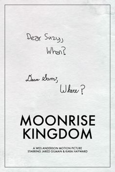 moonrise kingdom speech Moonrise kingdom takes place at the onset of autumn, and suzy's family lives at summer's end unlike other modern explorations of faerie, however, .