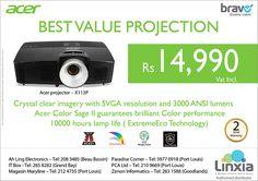 Linxia Ltd: Acer projector - Best Value Projection. Tel: 405 7400