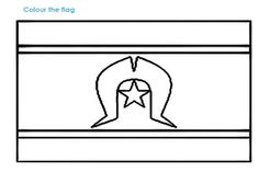 The Torres Strait Islander flag Aboriginal Art For Kids, Aboriginal Education, Aboriginal Culture, Naidoc Week Activities, Activities For Kids, Daycare Crafts, Daycare Ideas, National Sorry Day, Colouring Pages