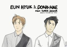 Made this for Donghae and Eunhyuk. Hope they receive it and like it. (nitip panitia)  #donghae #eunhyuk #suju #superjunior #leedonghae #eunhyukee44 #doodles #doodle #infographic #gift #kpop #indonesia #korea #illustration #illustation