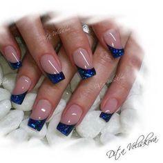 french nails with rhinestones Swarovski Crystals Orange Nail Designs, Nail Tip Designs, French Nail Designs, French Manicure Nails, French Tip Nails, My Nails, Fancy Nails, Pretty Nails, Nagellack Design