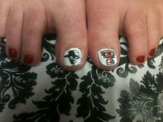 Nail art Texas Tech