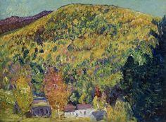 """""""Summer,"""" Marsden Hartley, 1908, oil on academy board, 15 1/8 x 18 1/4"""", Weisman Art Museum."""