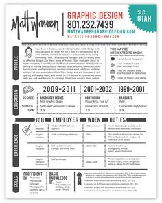 Flat Resume Set In  Variations  Business Chic