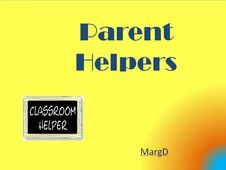 a short training course for parent helpers in the junior grades.  Parent helpers are really valuable and it's important we give them support...