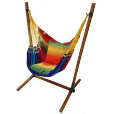 Regenboog hangstoel met standaard