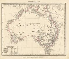 Antique Map Australia Flemming, Carl 1841